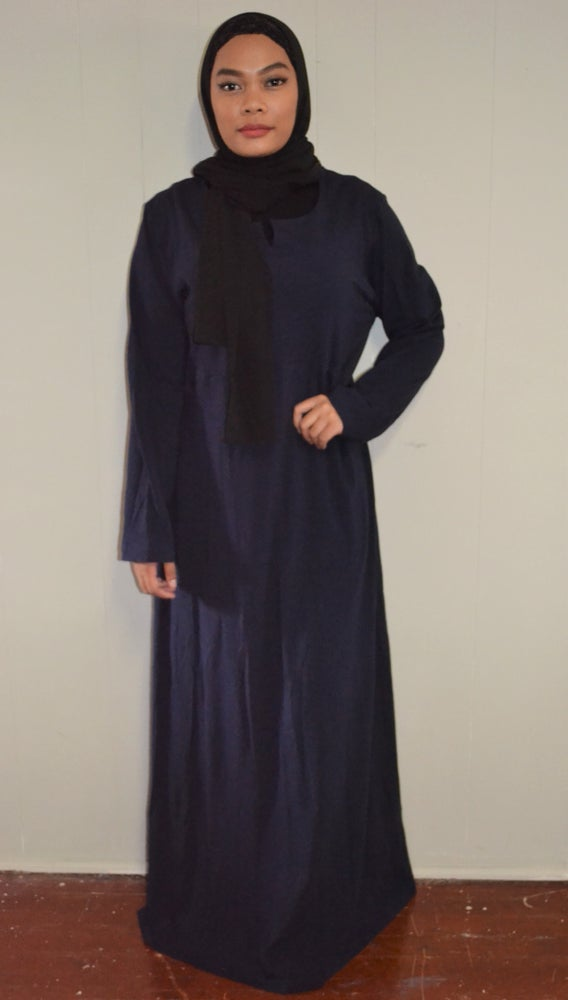 Image of Basic Abaya (Navy Blue).