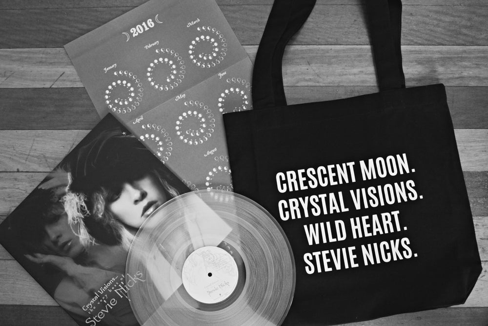 Image of CRESCENT MOON. CRYSTAL VISIONS. WILD HEART. STEVIE NICKS. bag