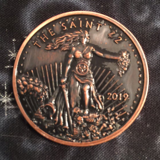Image of The Saint 1oz Copper Challenge Coin