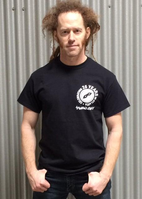 Classic Black Cotton Masquerade T-Shirt
