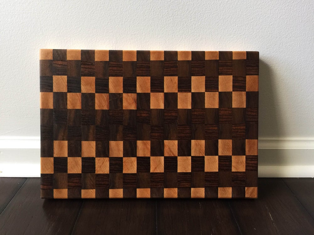 Image of Checkered End Grain Butcher Block