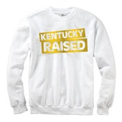 Image of KY Raised Crewneck Sweatshirt in White & Gold