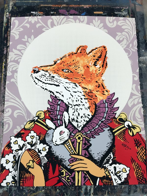 Image of Royal Fox Queen - Hand Screen Printed Art Print