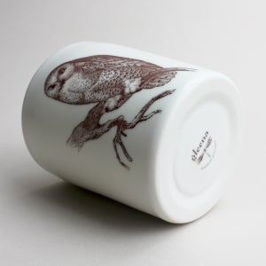 Image of 16oz tumbler with owl, ivory