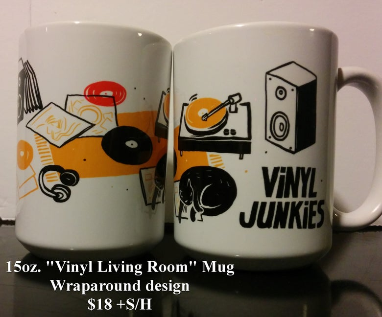 "Image of 15oz. VJ ""Cat Banner"" Coffee Mug"