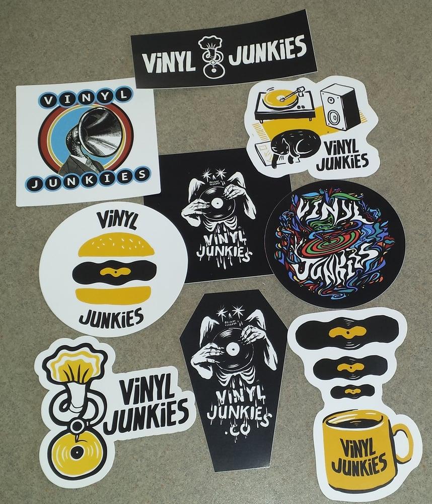 Image of Vinyl Junkies Sticker Pack
