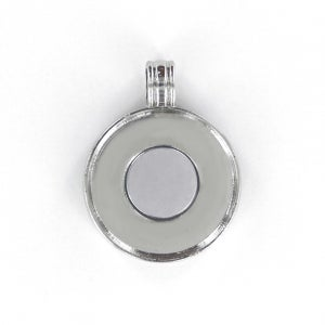"""Image of Magnetic interchangeable 1"""" button pendant with 3 custom inserts"""