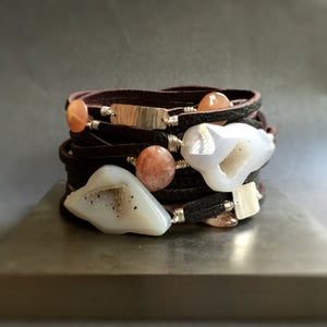 Image of Leather Wrap Bracelet