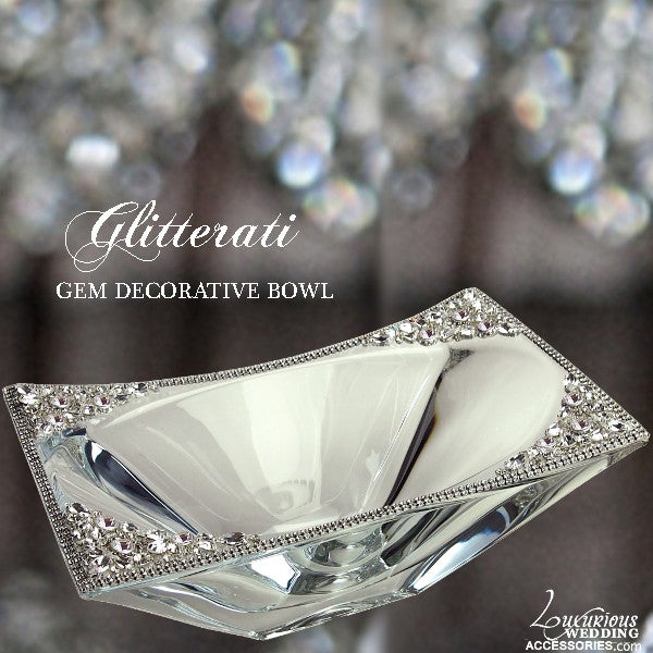 Image of Glitterati Crystal Gem Decorative Bowl