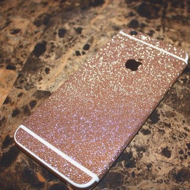 iphone 6 plus glitter case rose gold