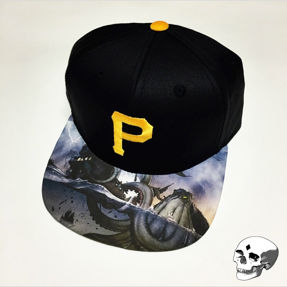 501984e52 Pittsburgh Pirates snapback with custom Kraken brim