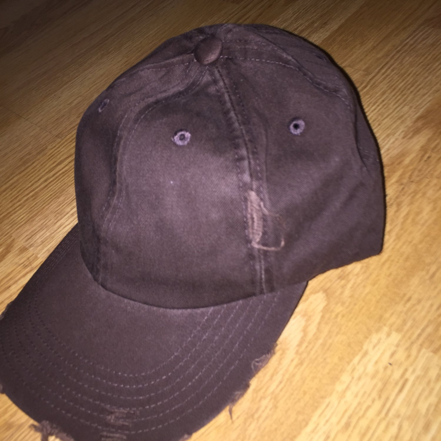 Image of BROWN // DISTRESSED 6 Panel cap