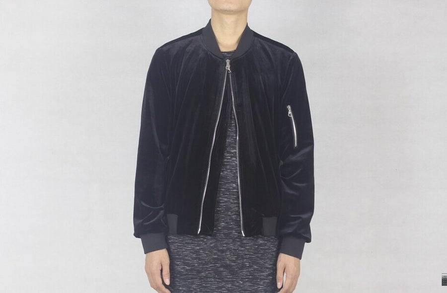 Image of BLACK // VELOUR BOMBER JACKET