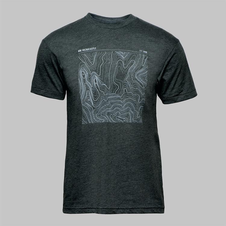 Image of microCastle 'EST 2008' T-Shirt Heather Black
