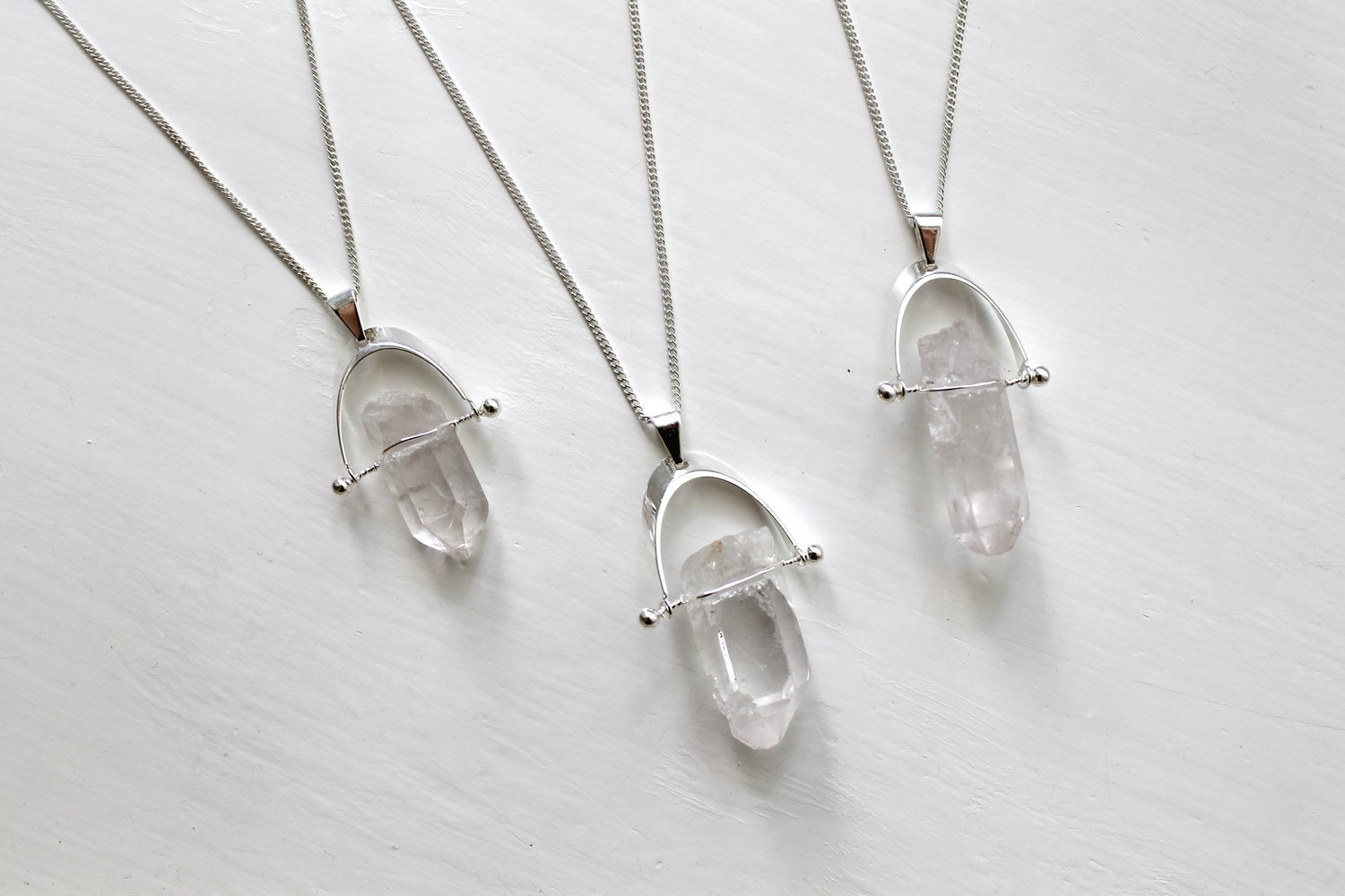 Image of Floating Crystal Quartz Point Necklace (Originally $36)