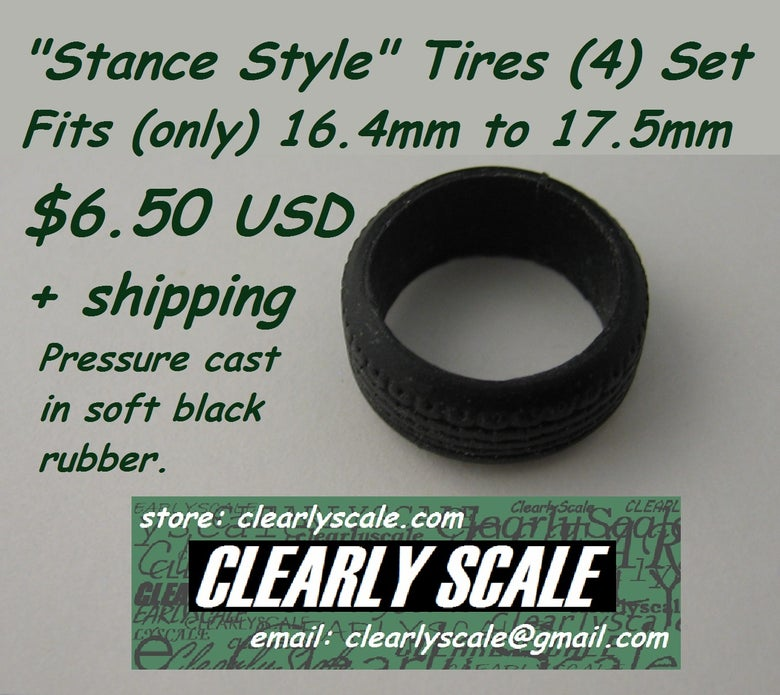 Image of Low Profile Stance Style (16.4-17.5mm) Tires Set (4)