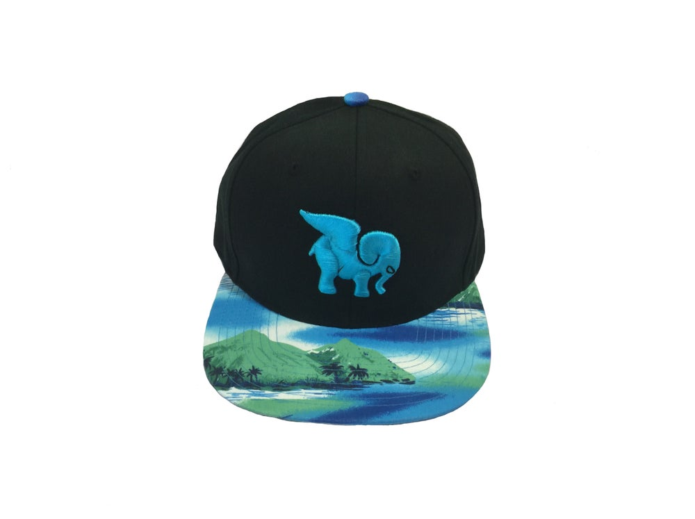 "Image of ""Mauna Loa"" Iconic Snapback in Black"