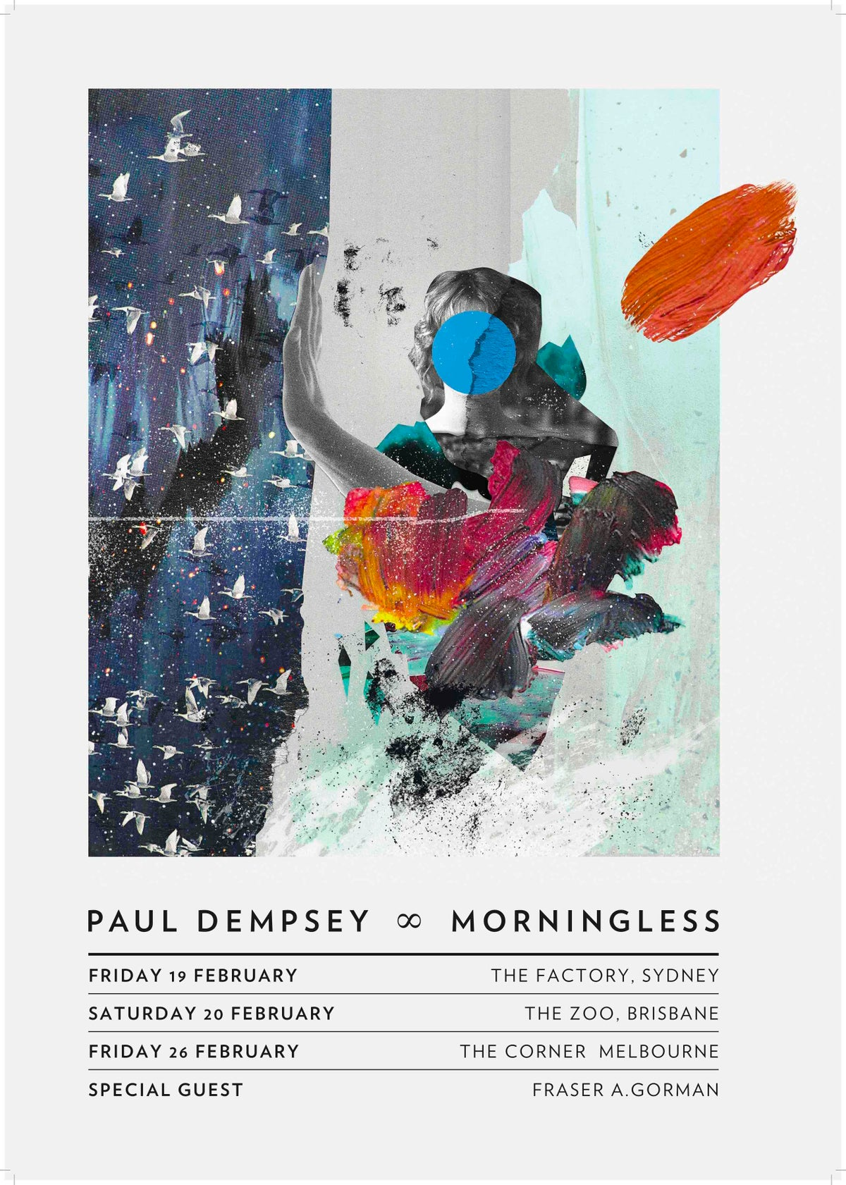 Image of Paul Dempsey 'Morningless' Limited Edition Tour Poster