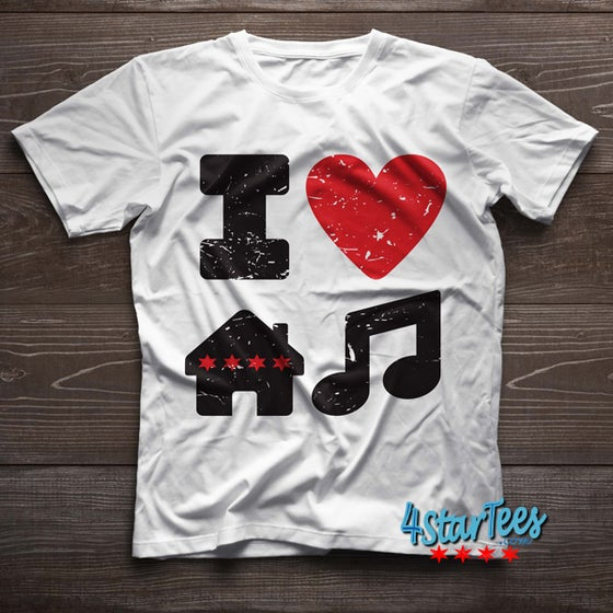 Image of I Love Chicago House Music! - Unisex Tee White
