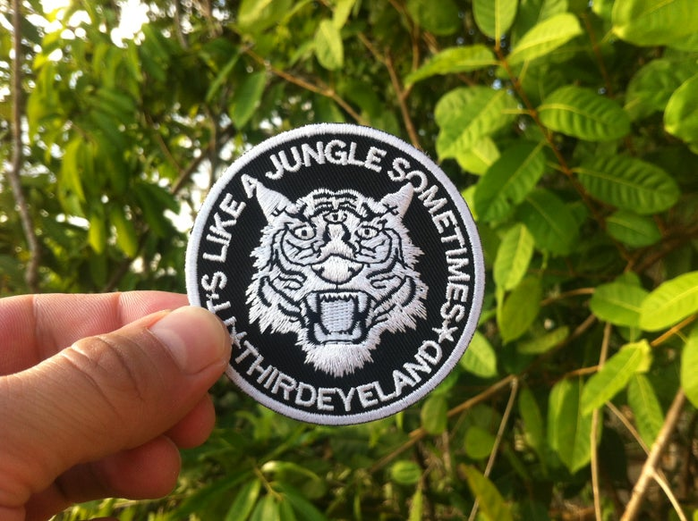 Image of It´s like a Jungle sometimes/Tiger-Reflect at Night Patch+Stickers
