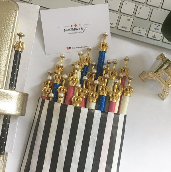 Image of Miss Diva Crown Top Pen 👑