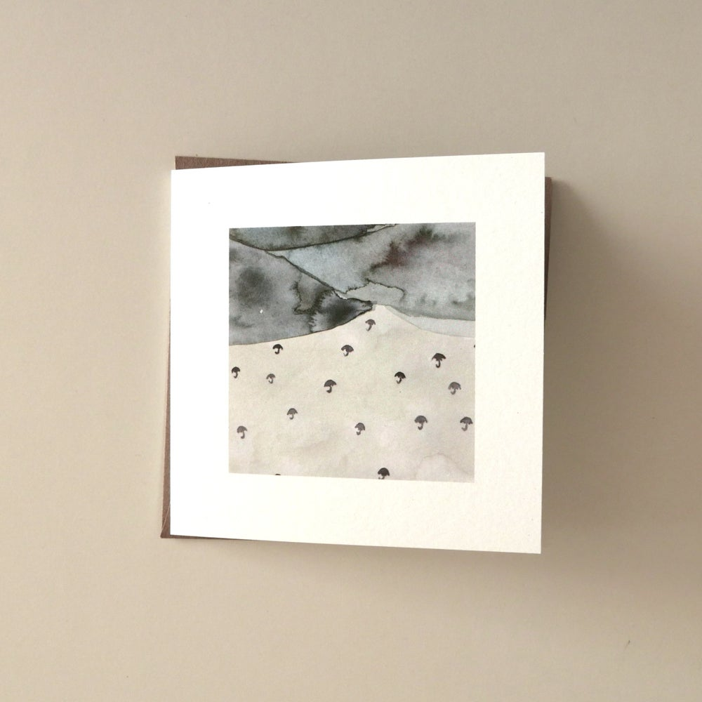 Image of watercolour square greeting card