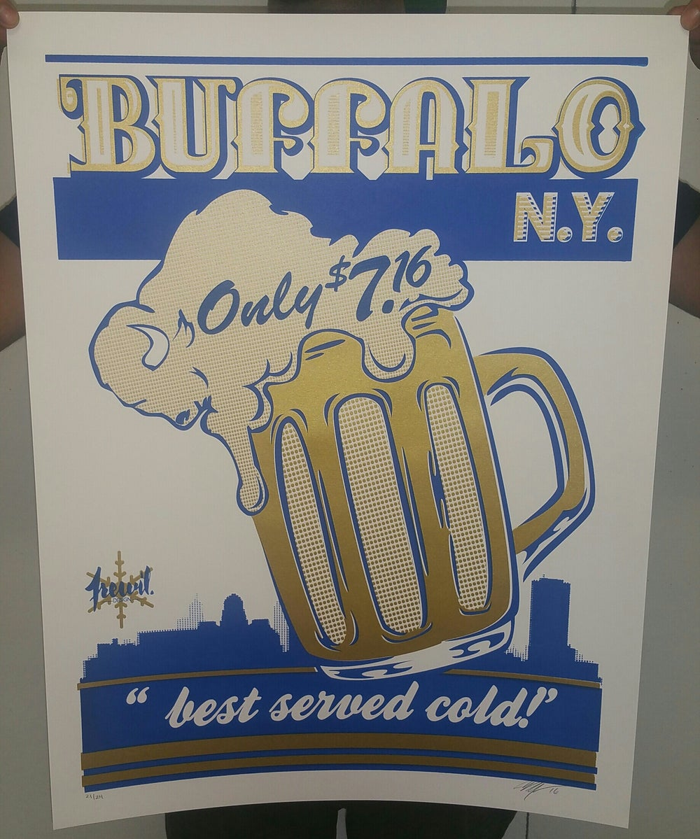 "BUFFALO NY ""best served cold!"" POSTER"