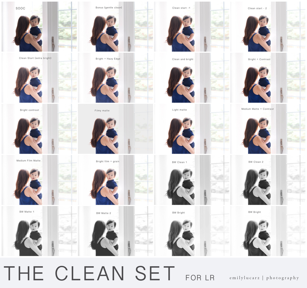Image of The Clean Set  (LR 4 and up)