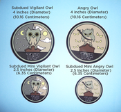 Image of Subdued Owl Stickers