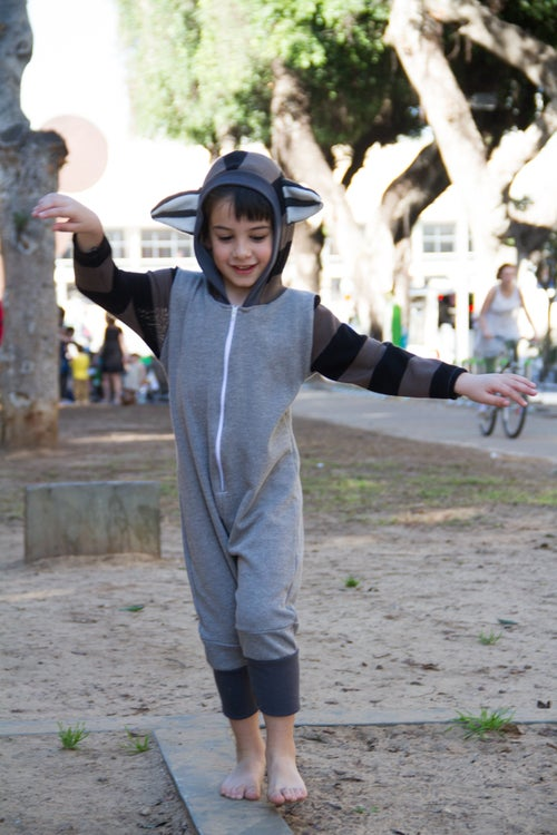 Image of Raccoon Cool Playsuit  אוברול רקון