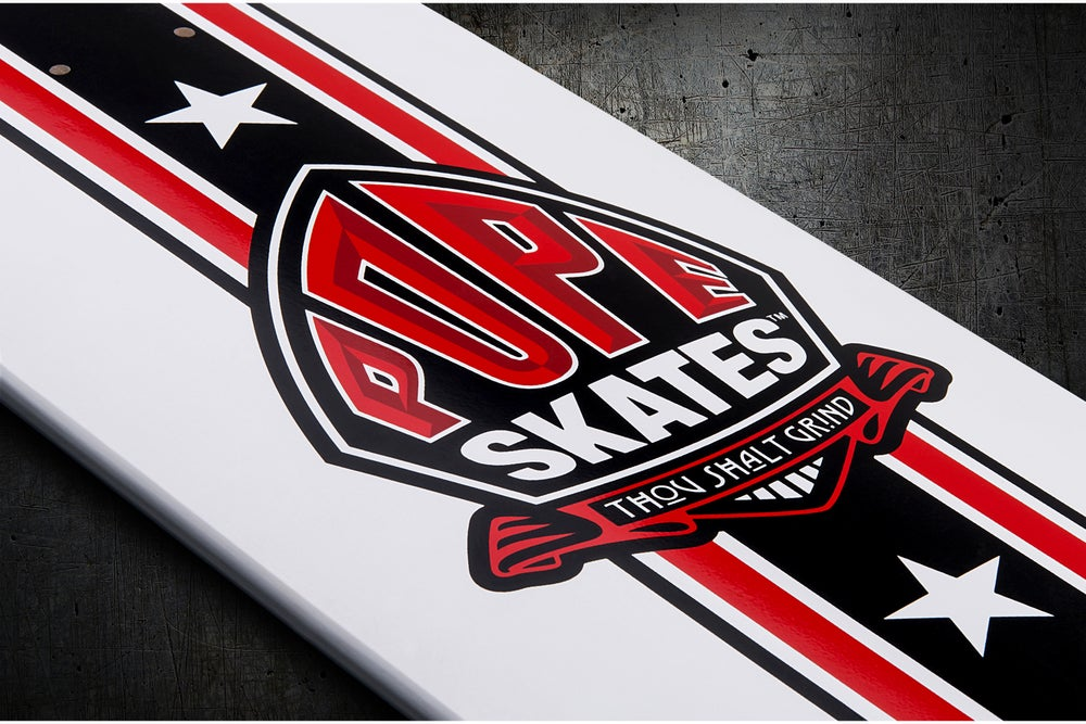 Image of White & Red Stuntman Series Park Deck