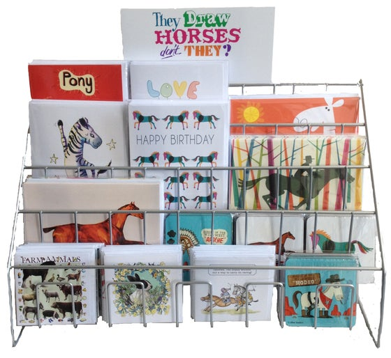 Image of fully stocked trade greeting cards stand!