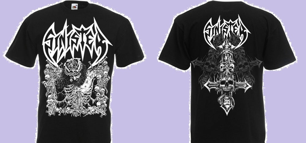Image of SINISTER - Convulsions of christ T-shirt
