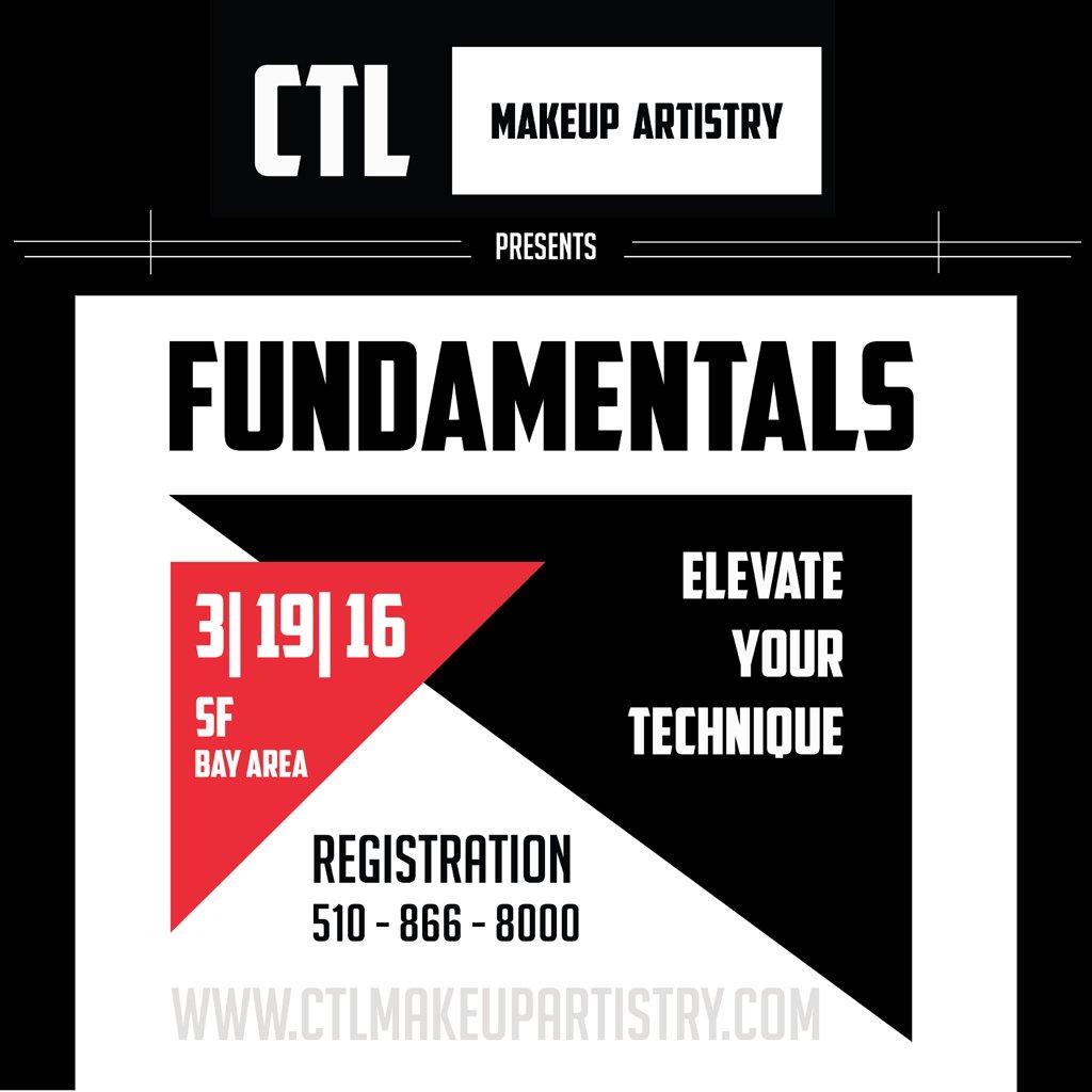 CTL Makeup Artistry FUNDAMENTALS  3/19/16