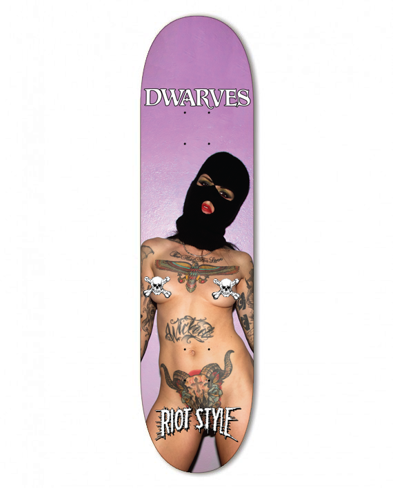 Image of The Dwarves / Malice McMunn - Radio Free Dwarves Skate Deck