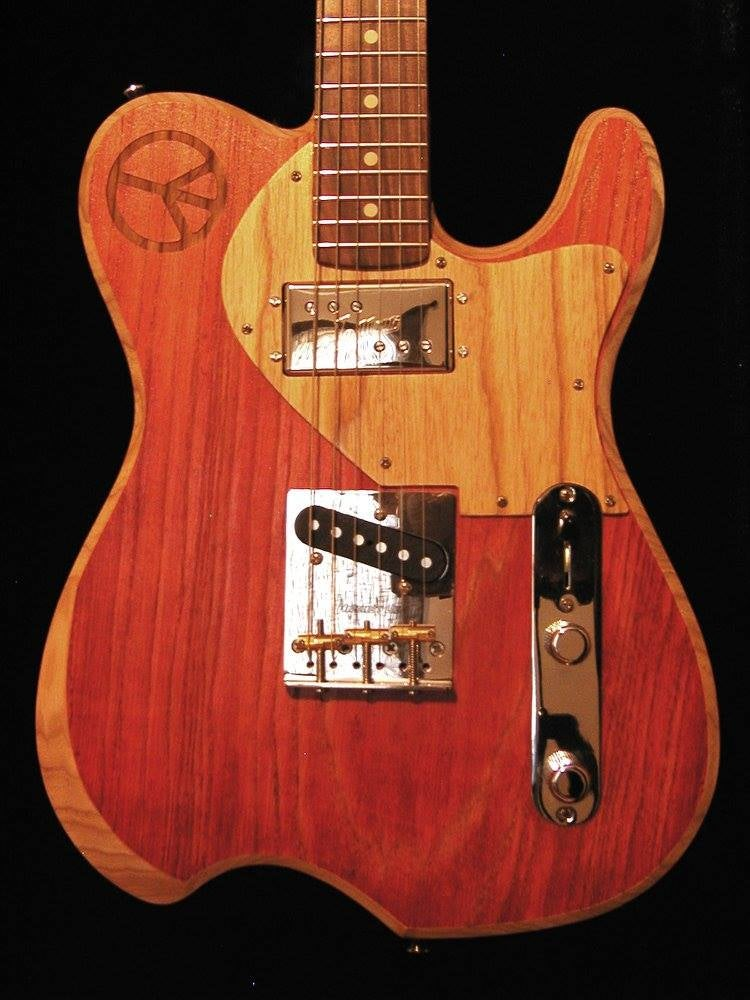 "Image of Mike Zito Signature ""Peace"" Model Big Sky Delaney Guitar LTD"