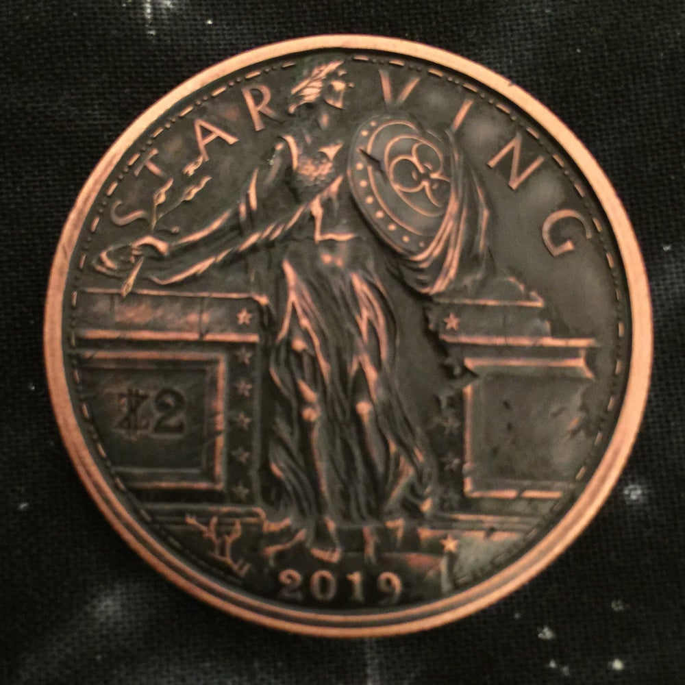 Image of Starving Liberty 1oz Copper Challenge Coin