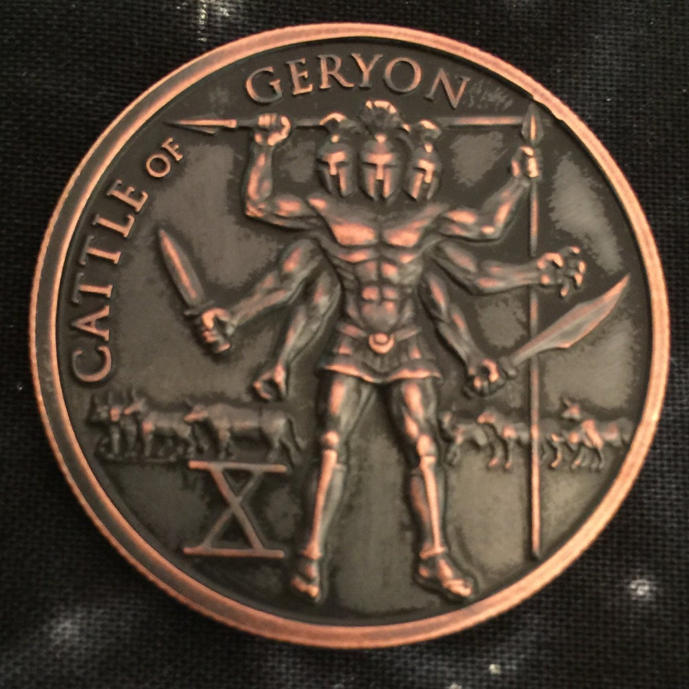 Image of Cattle of Geryon 1oz Copper Challenge Coin
