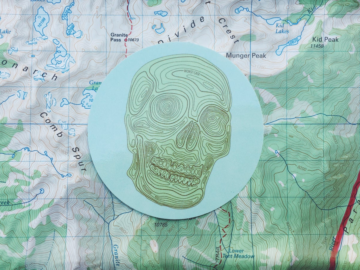 Image of The Worst Case 'Topo Skull' Sticker
