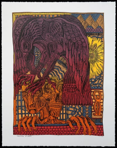 "Zio Ziegler - ""The Ring of Gyges, 2016"" - 7 Color Screenprint - Edition of 25 - Misc. Press"
