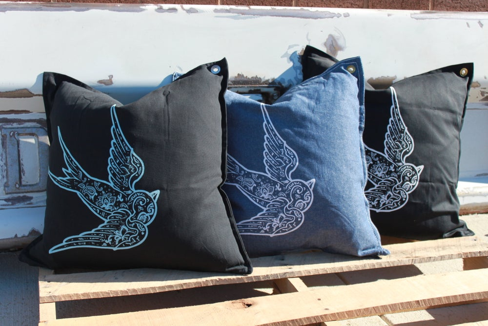 Image of CKP Swallow Pillow Cover