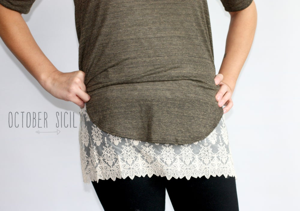 Image of FREESHIP Lace Top Extender,  size S only *Style 3*