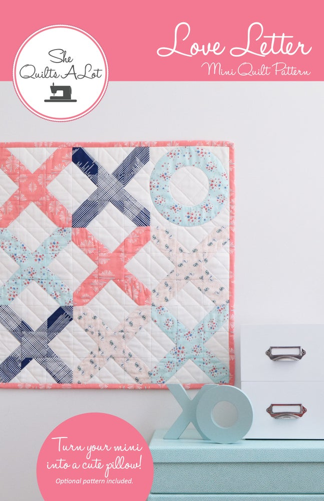 Image of Love Letter Mini Quilt Paper Pattern
