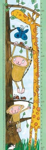 Image of Giraffe and monkey height chart