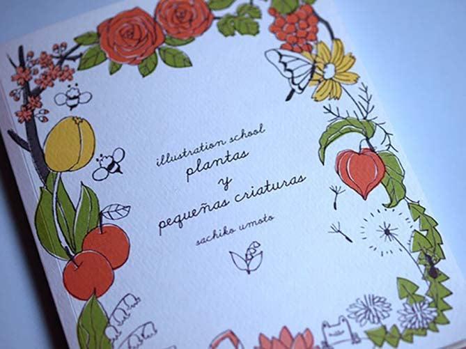 Image of Illustration School: plantas y pequeñas criaturas