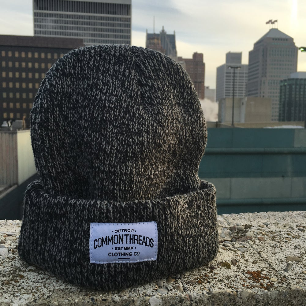 Image of Heather Black Knit Beanie