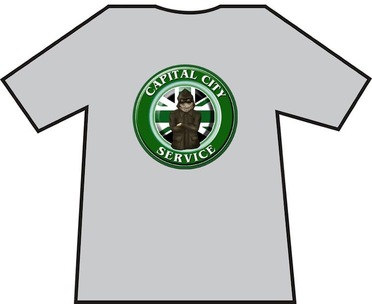 Image of Hibs, Hibernian Capital City Service CCS Casuals t-shirts. Brand new.