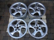 "Image of Genuine Porsche Turbo 1 Twist Hollow Spoke 18"" 5x130 Alloy Wheels"