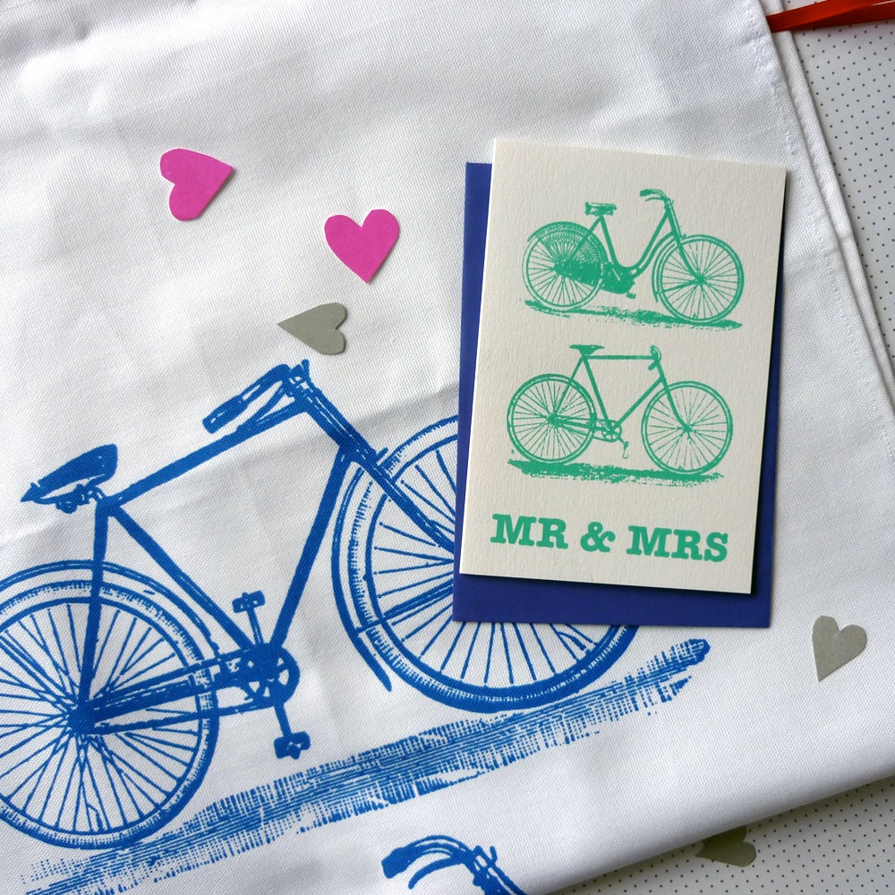Image of Mr & Mrs tea towel