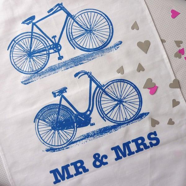 Image of Mr & Mrs tea towel